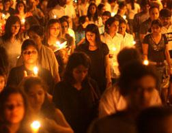 Mourners in Mumbai. Click image to expand.