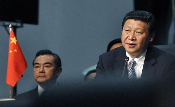 President of the People's Republic of China Xi Jinping attends the BRICS summit in Durban on March 27, 2013.