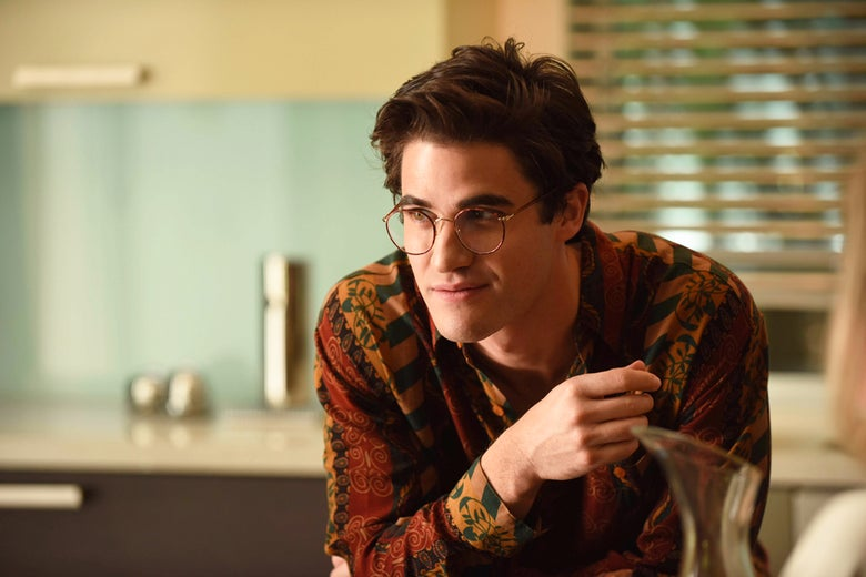 Darren Criss as Andrew Cunanan in The Assassination of Gianni Versace: American Crime Story. Jeff Daly/FX