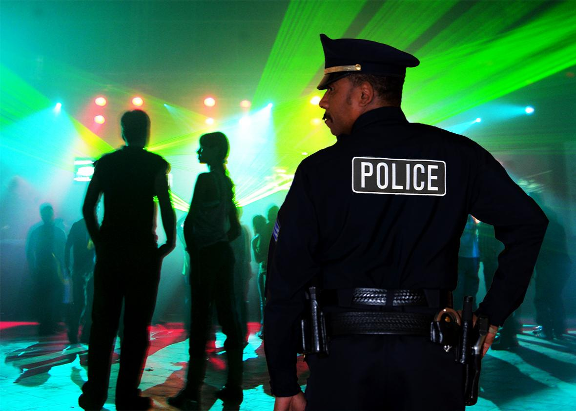 off duty cop at club.