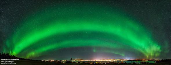 aurora over Sweden