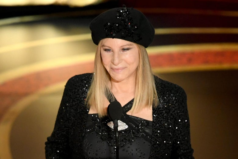 Barbra Streisand speaks onstage during the 91st Annual Academy Awards.