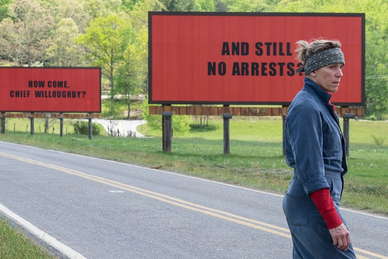 Frances McDormand in Three Billboards Outside Ebbing, Missouri.