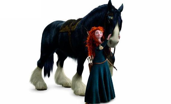 Merida, from Brave.