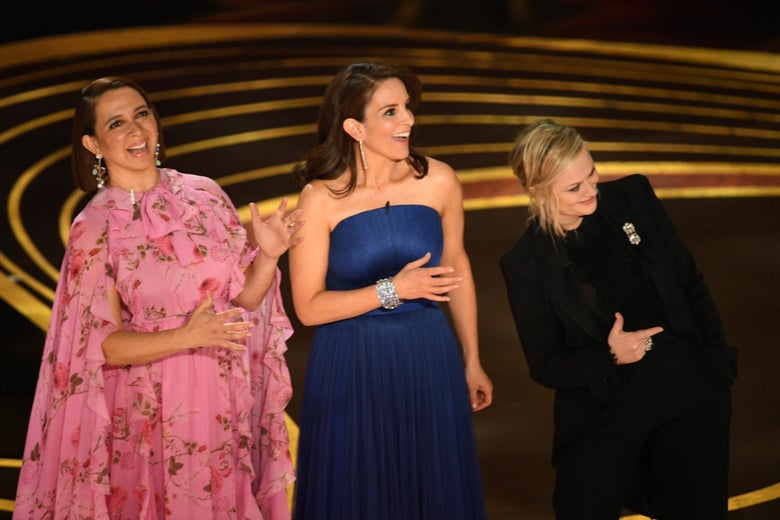 Maya Rudolph, Tina Fey, and Amy Poehler.