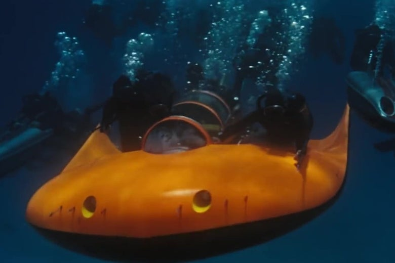 An underwater sled from the 1965 James Bond movie Thunderball.