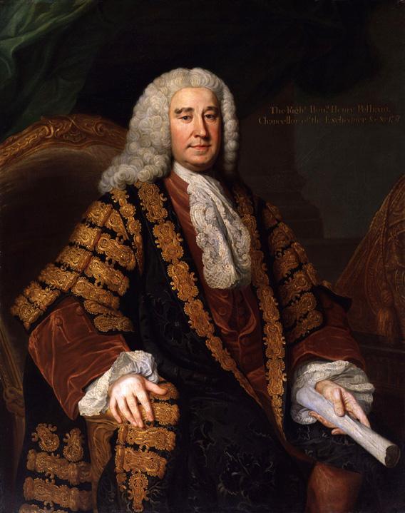 Portrait of Prime Minister Sir Henry Pelham, oil on canvas, 1751.