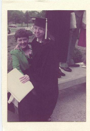 May 1983, Harding University, Searcy, Ark. She insisted on this photo.