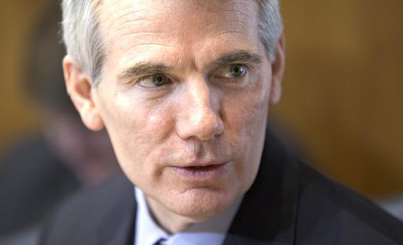 Senator Rob Portman at a committee discussion on the nomination of Sally Jewelll to be secretary of the interior.