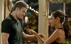 Mila Kunis and Justin Timberlake in Friends With Benefits. Click image to expand.