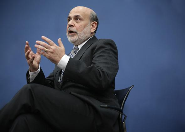 Federal Reserve Board Chairman Ben Bernanke speaks during a session at the Brookings Institution January 16, 2014 in Washington, DC.