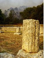 Fire rages in Ancient Olympia. Click image to expand.