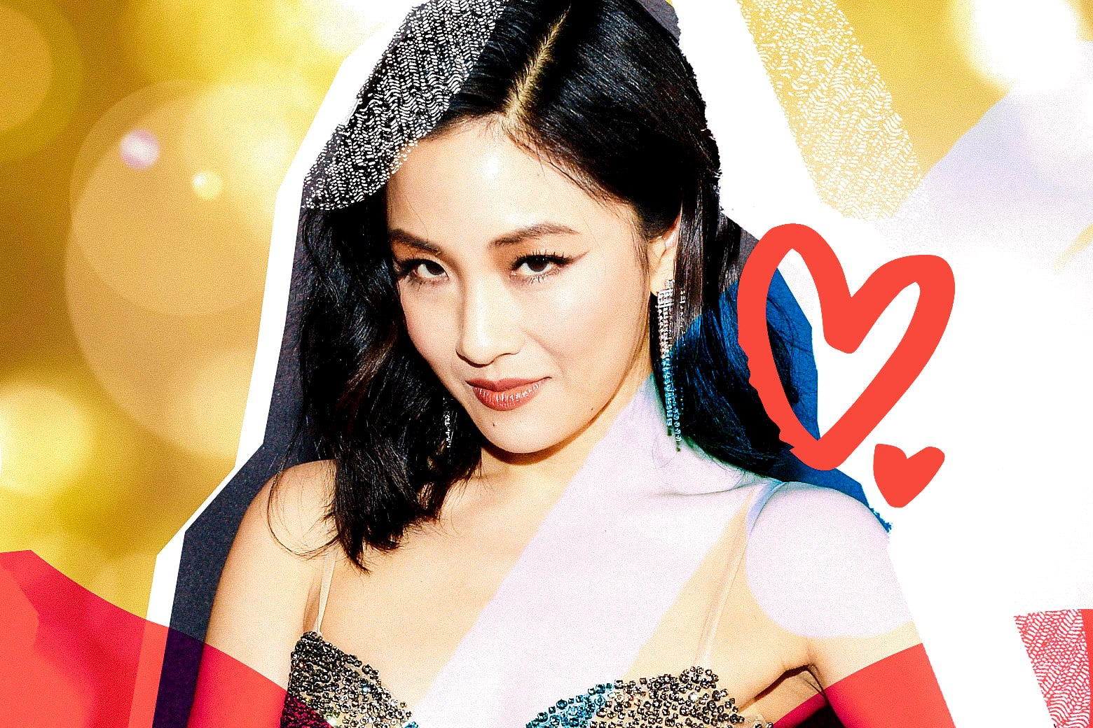 Photo illustration of Constance Wu, looking fabulous