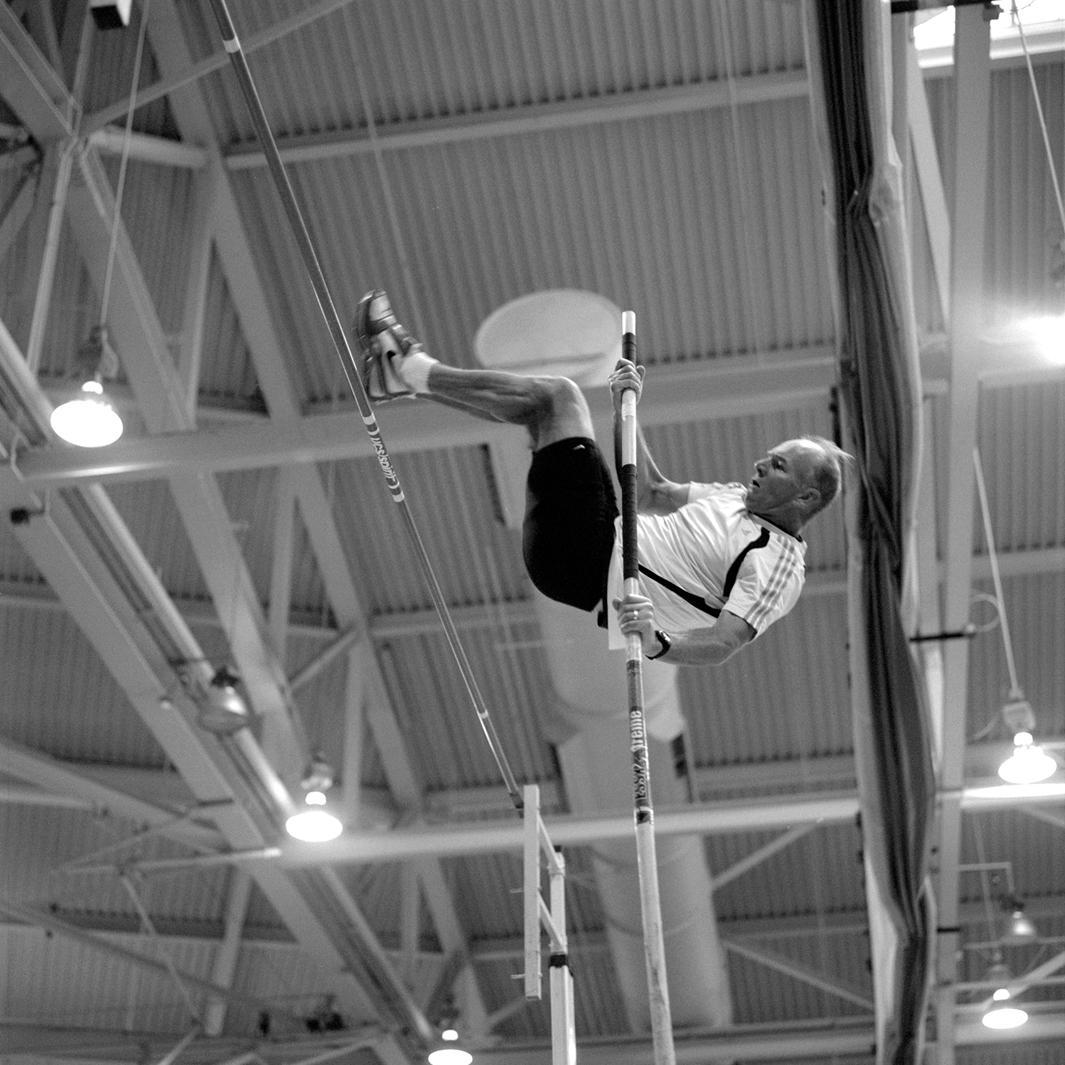 Pole vaulter. 2008 USA Master's Indoor Track & Field Championships in Boston, Massachusetts. March, 2008.