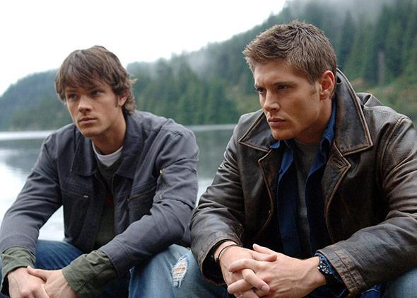 Jared Padalecki as Sam and Jensen Ackles as Dean in Supernatural.