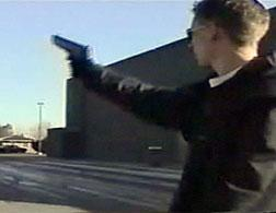 Click here to see home video of Harris and Klebold conducting mock attack and weapons training.