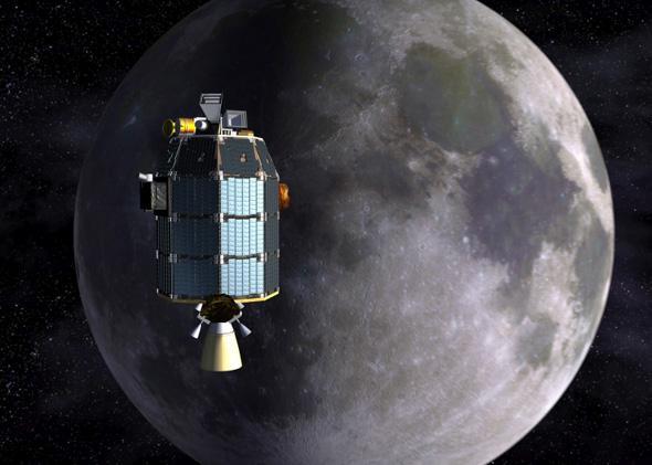 LADEE Approaches Lunar Orbit Artist's Concept