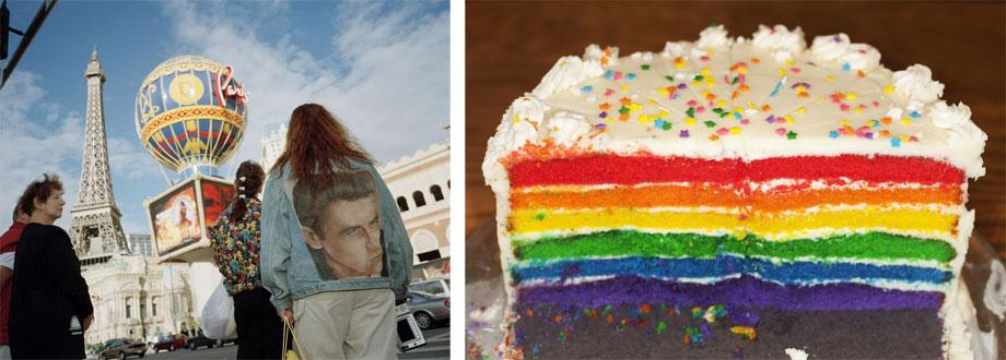 Left: LAS VEGAS—Rainbow cake. Right: ATLANTA—2010. Both from Life's a Beach (Aperture, 2012).