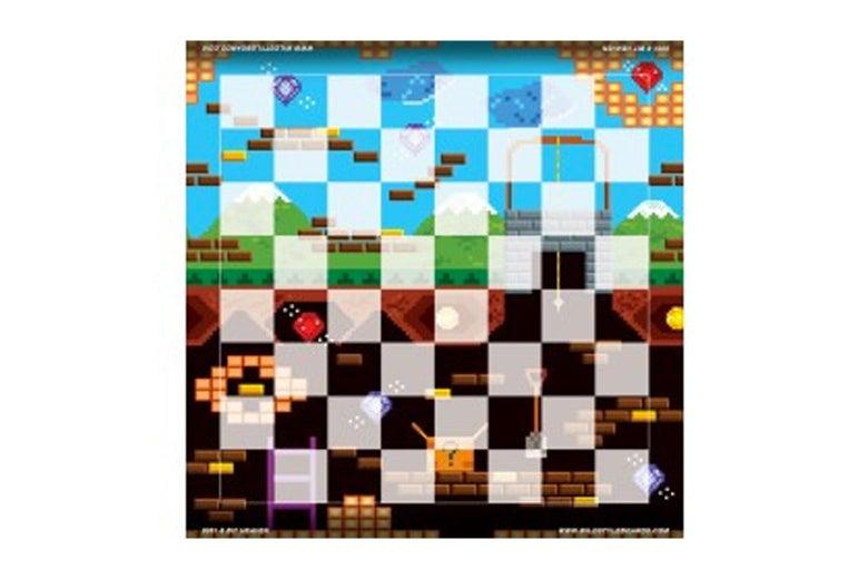 Wild style vinyl chessboard