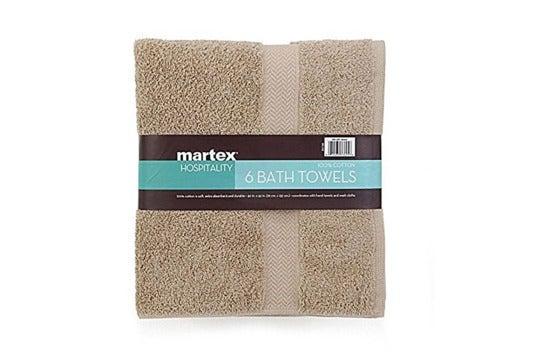 Brown Martex towel.