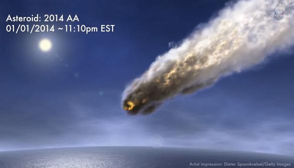 asteroid 2014AA