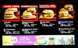 McDonald's menu. Click image to expand.