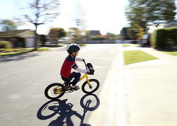 bike helmetted ride.