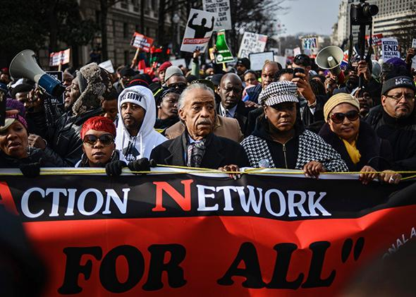 Al Sharpton at Justice for All rally in Washington, D.C.