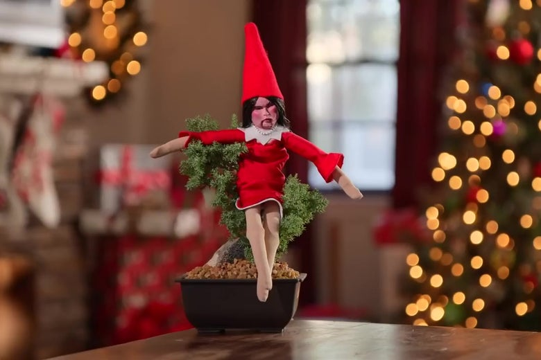 Jimmy Kimmel Christmas.Jimmy Kimmel Presents Huckabee In A Tree A New Toy That