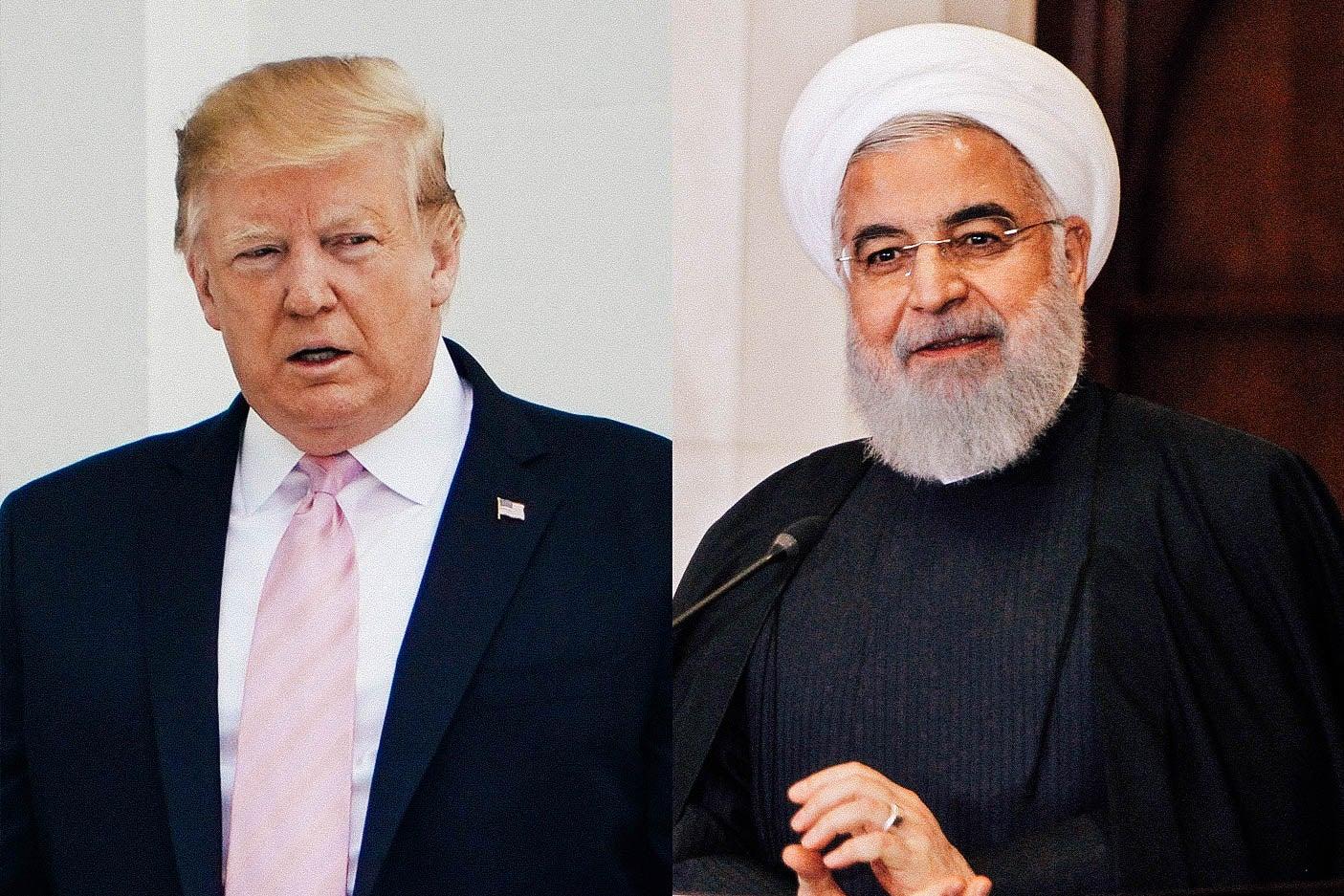 U.S. President Donald Trump and Iranian President Hassan Rouhani.