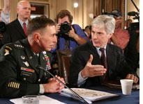 Gen. David Petraeus and U.S. Ambassador to Iraq Ryan Crocker. Click image to expand.