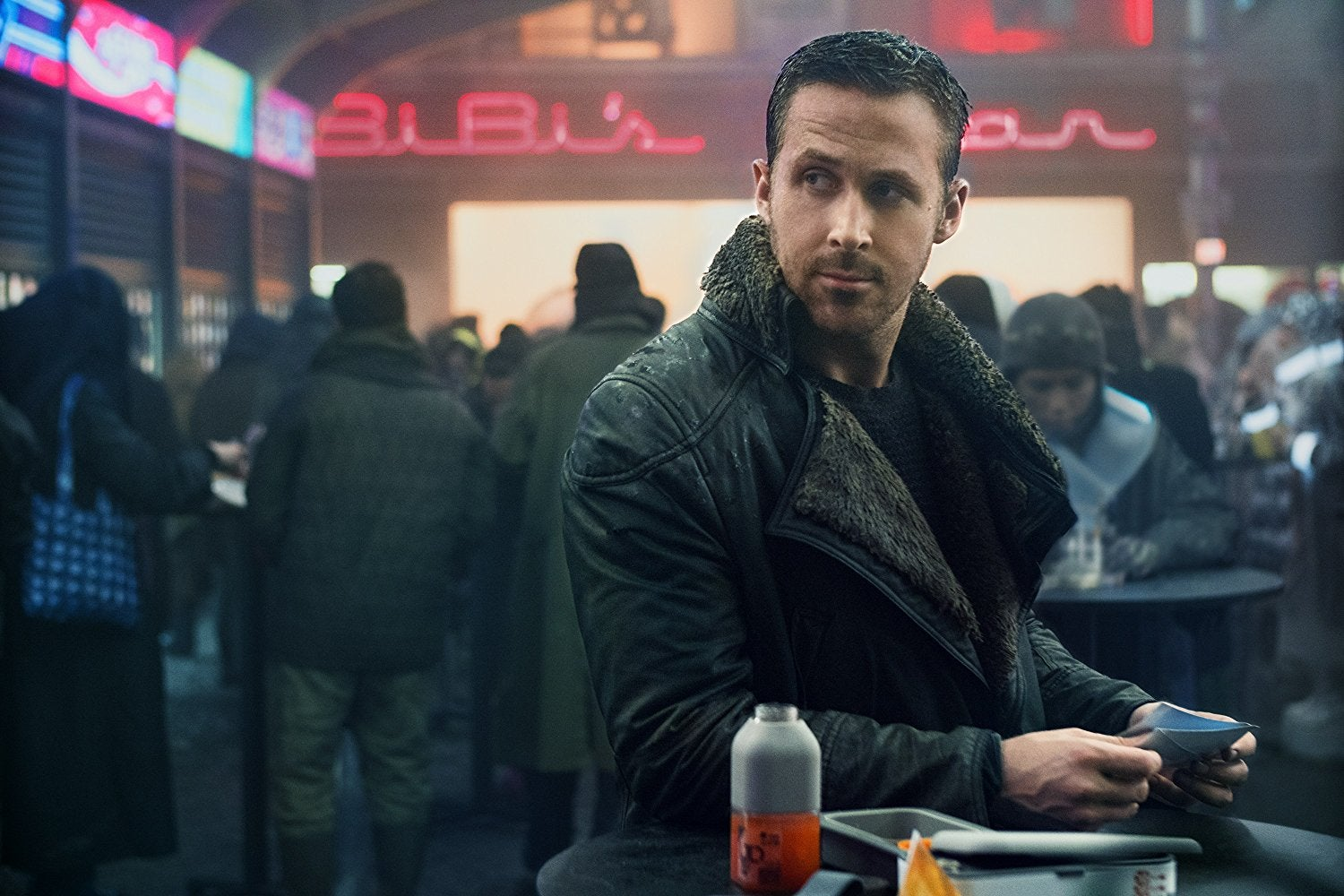 Ryan Gosling as K in Blade Runner 2049.
