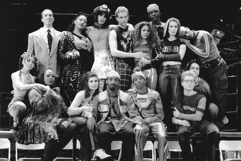 The original Broadway cast of Rent from 1996.