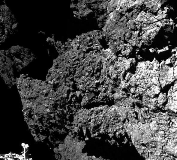 surface of the comet