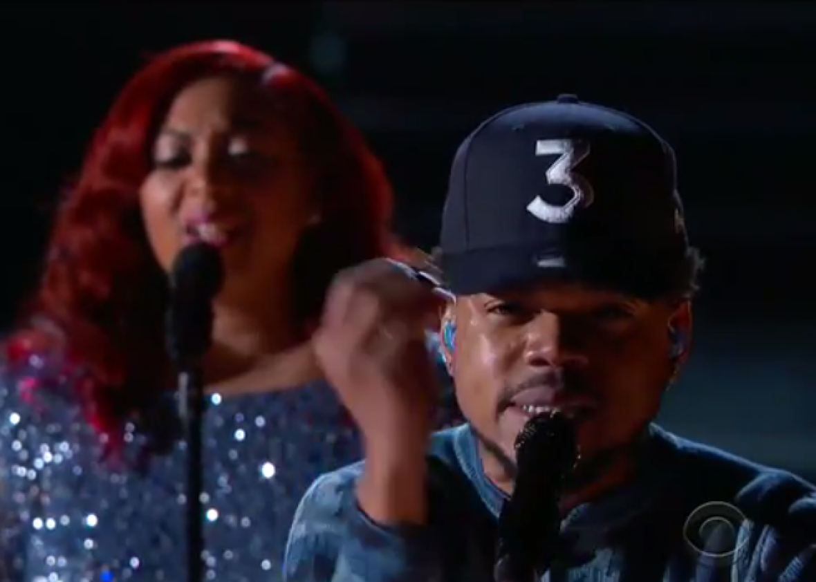 Chance the Rapper, on the biggest night of his career thus far.