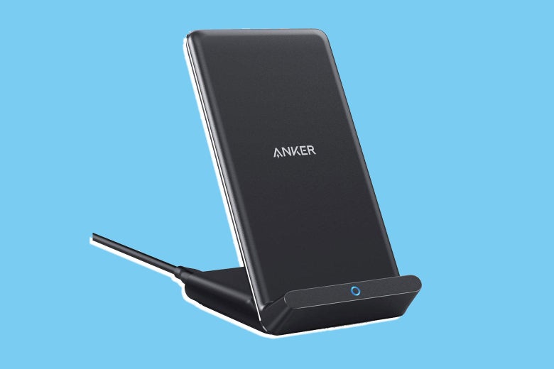 Anker wireless charger PowerWave stand.