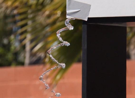 Spiraling water