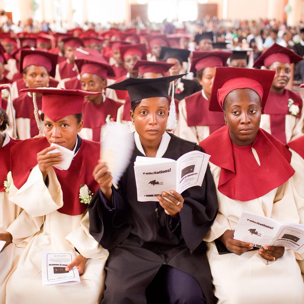 Graduation ceremony for the teachers? college at the Université Publique du Sud aux Cayes. Les Cayes. Haiti