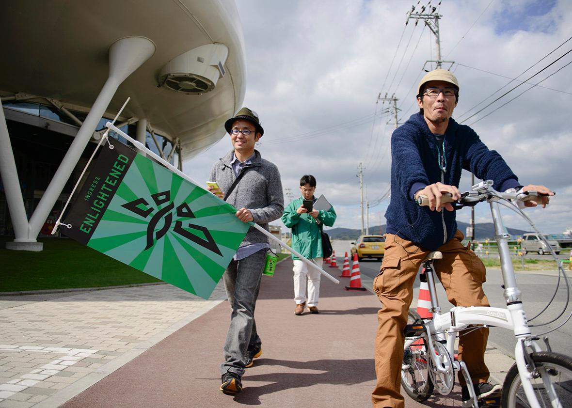 Gamers in Ishinomaki, Japan.