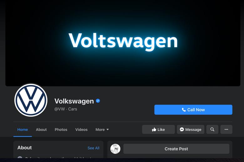 The Voltswagen Facebook banner