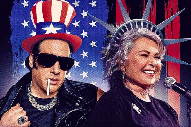 "Andrew Dice Clay and Roseanne Barr ""Mr. and Mrs. America"" tour poster"
