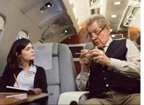Audrey Tautou and Ian McKellen in The Da Vinci Code. Click image to expand.