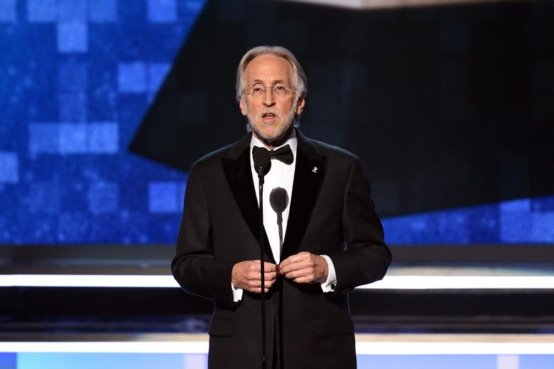 LOS ANGELES, CA - FEBRUARY 10:  President and CEO of The Recording Academy Neil Portnow speaks onstage during the 61st Annual GRAMMY Awards at Staples Center on February 10, 2019 in Los Angeles, California.  (Photo by Kevin Winter/Getty Images for The Recording Academy)