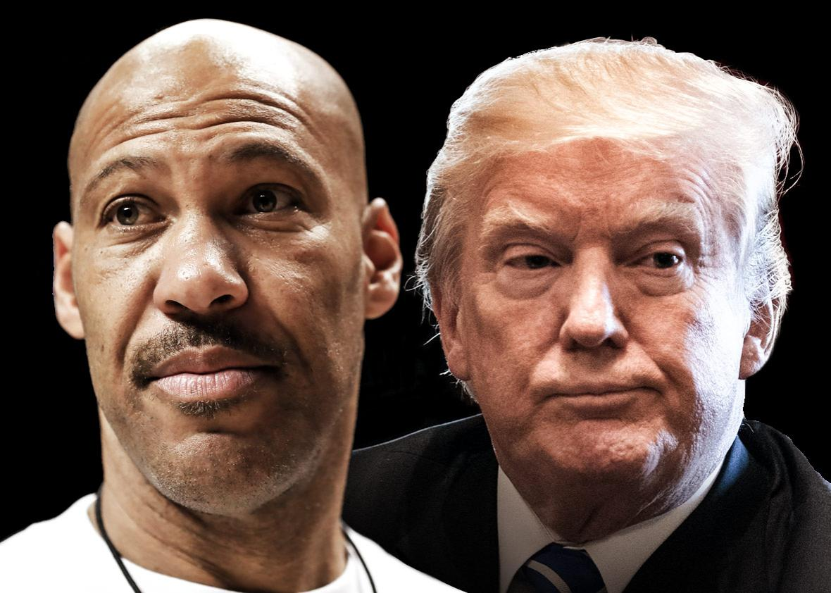 LaVar Ball and Donald Trump
