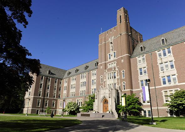The Golisano Academic Center houses many of Nazareth College's academic programs.