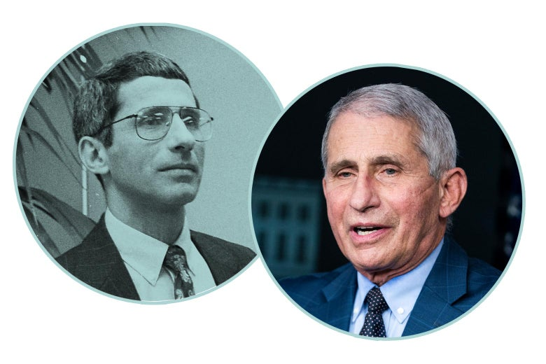 Anthony Fauci, younger and now.