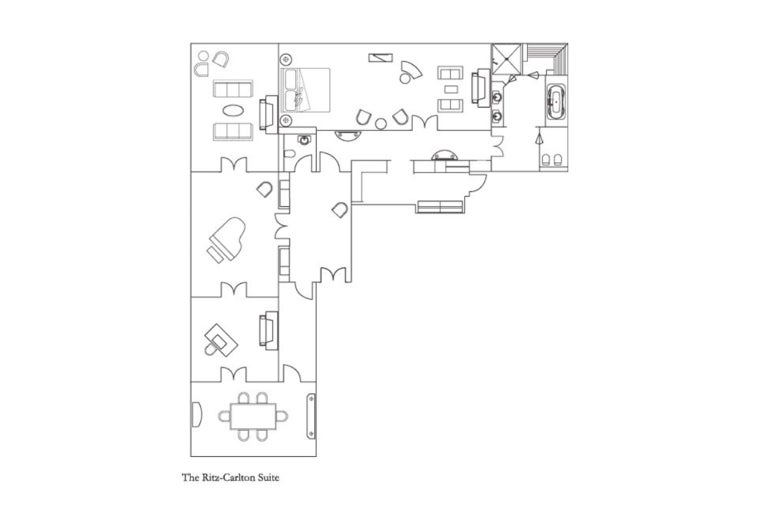 Floor plan of the presidential suite