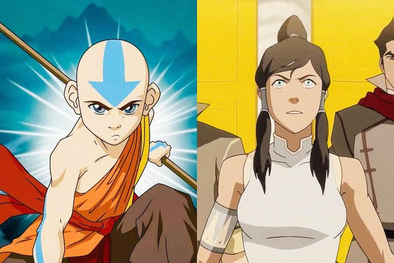 Avatar Aang and Kora.