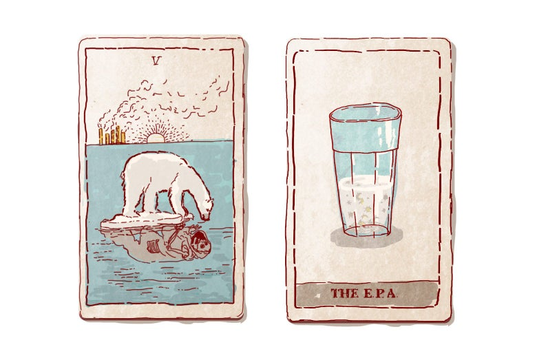 Illustration of Trump tarot cards by Natalie Matthews-Ramo.