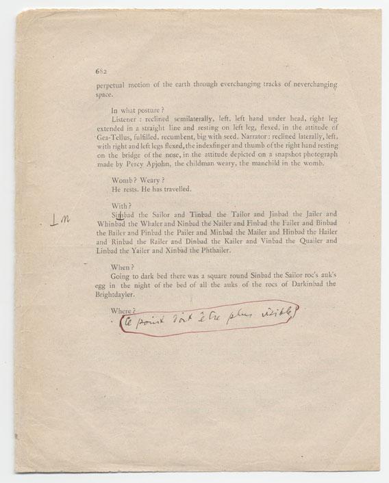 Joyce manuscript